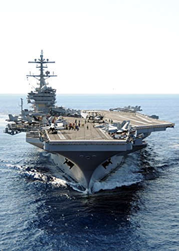 The Aircraft Carrier USS George H.W. Bush (CVN 77) transits The Atlantic Ocean. (U.S. Navy Photo by Vivid Imagery Laminated Poster Print-20 Inch by 30 Inch Laminated Poster
