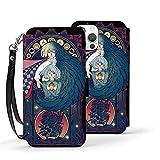 Anime H-Owl's Moving Castle-Hayao Miyazaki Phone Case Magnetic Closure Premium Pu Leather Flip for iPhone 12,iPhone 12 Pro,Iphone12mini,iPhone 12pro Max