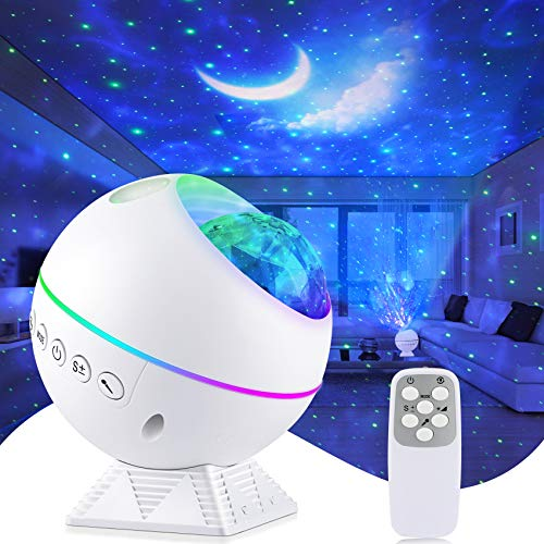 Galaxy Projector Star Projector 3 in 1 Night Light Projector with Remote Control, Nebula Cloud Ceiling Light Projector with 40 Colors, 360° Magnetic Base Moon Galaxy Projector for Bedroom Kids Adults