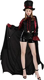 Halloween Dresses Women Earl Vampire Costume, Devil Dress Up, Zombie Suit Cosplay Costumes Game Suit Adult Fancy Dress Costumes, Male and Female Lovers, Suitable for All Kinds of Activities,Black-M