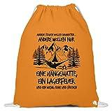 Wandern: Frauen: Hängematte statt Diamanten - Baumwoll Gymsac -37cm-46cm-Orange