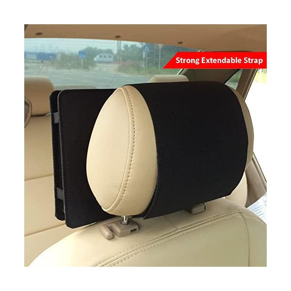 Car Headrest Mount Holder Strap for Swivel and Flip Style Portable DVD Player - 9 Inch to 9.5 Inch Screen 5