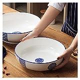 AGLZWY Keramikschale Große Haushaltskeramikschale Für Familie Oder Restaurant, Weiß, 1 Größe (Color : White, Size : Set)