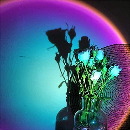 Proyección de luz LED, Lámpara del proyector del atardecer, lámpara de pie de luz de la puesta del sol roja, lámparas de proyector de luz cálida de noche, lámpara romántica del arco iris LED, luz del