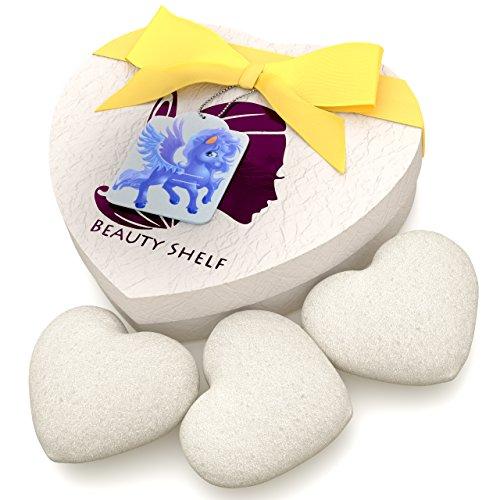 Konjac Sponge (3 Pack) - Natural White Sponges for Babies...