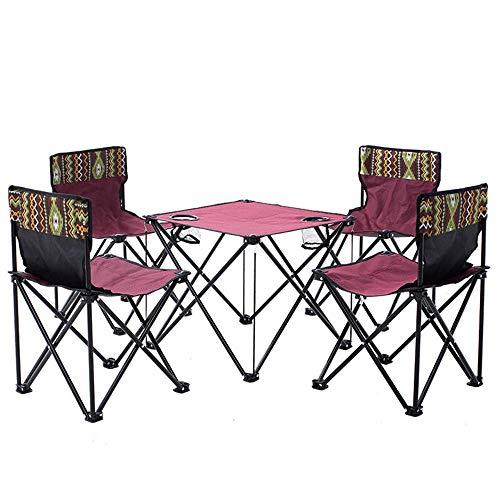 LIBOYUJU Outdoor Klapptisch und Stuhl Set tragbare ultraleichte Picknick Strand Tisch und Stuhl Kombination Feld selbstfahrende Camping