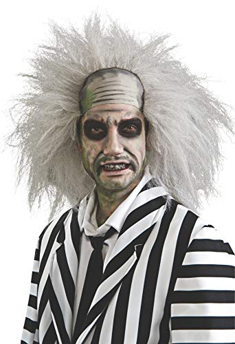Rubie's mens Beetlejuice Wig, White Party Supplies, Grey, One Size US