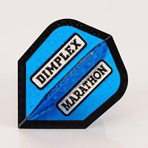5 Sets of HARROWS DIMPLEX MARATHON blau DART FLIGHTS STANDARD SHAPE