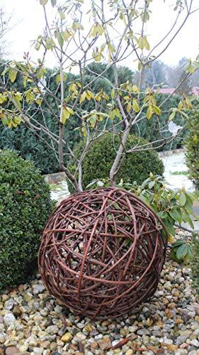 Weidenkugel in 6 Größen, Dekokuge laus Weide Weidenball Gartenkugel Handgefertigt in EU (40cm)