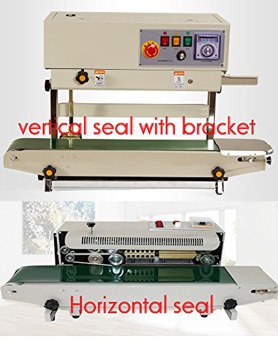 TECHTONGDA FR-770 Continuous Band Vertical Bag Sealer Continuous Film Sealing Machine with Bracket Horizontal PVC Bag Sealer 110V