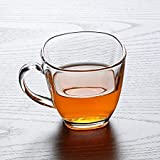 TRUENOW VENTURES PRIVATE LIMITED Glass Tea and Coffee Cup (Clear, 140 ml) 6 Pieces