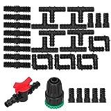 Duokon 34 unids/Set Kit de riego por Goteo G1 / 2 Adaptador de Grifo Conector en T Suministros de riego por aspersión
