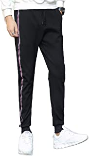 Mogogo Mens Casual Stitch Summer Fit Tapered Athletic Fit Soild Work Pant