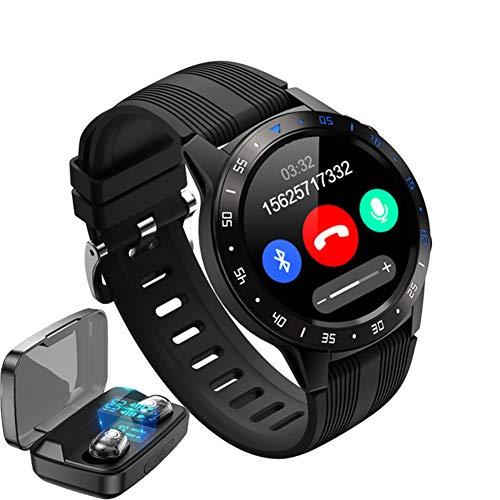 CETLFM New Sports GPS Smart Men's Watch Voice Call Heart Rate Monitoring IP67 Waterproof Smart Watch + High-End Bluetooth Headset,Black