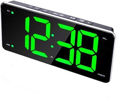 ZHAOHUIFANG Reloj Despertador Digital Radio Reloj Despertador Doble Alto Y Oscuro Ajuste Ajuste Reloj Despertador Tamaño