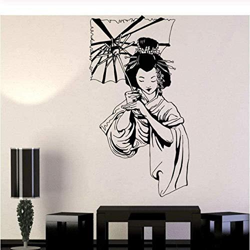 Geisha fille japonais sticker mural Creative stickers muraux décoration de la maison salon chambre cuisine art autocollants 42X76Cm