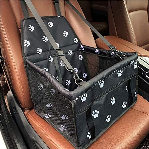 LIULL Kindersitz FüR Tragbare Airbags FüR Hunde Und Katzen Sowie Sicherheitsgurte FüR Hunde, Reisesicherheit, Gurt Und Aufbewahrungstasche Mit ReißVerschluss,Schwarz