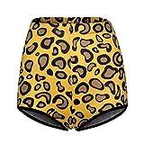 Mengove Pantalones Casuales de Moda para Mujer con Estampado de Leopardo, Pantalones Cortos Deportivos elásticos Ajustados Sexis para Yoga, Bikini Hipster