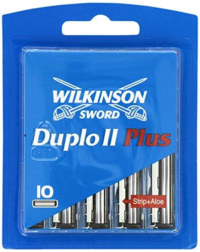 Wilkinson Sword Duplo II Plus Klingen mit Aloe Vera Strip, 10 Stück