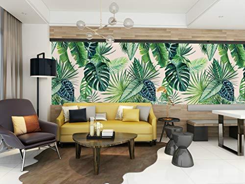 HUANGYAHUI Fotomurales Planta Tropical, Estilo Del Sudeste Asiático, Hoja De Plátano. Papel pintado Papel Pintado murales decoración de paredes moderna