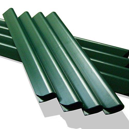 50 Stück PVC - Sichtschutzstreifen Klemmschienen – moosgrün