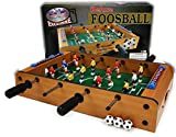 Matty's Toy Stop Deluxe Wooden Mini Table Top Foosball Game with 4...