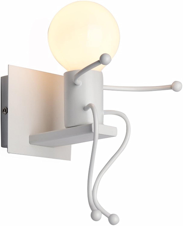 Best wishes shop Wandleuchte- Nordic Kreative Persnlichkeit Led Nachttischlampe Moderne Einfache Schlafzimmer Gang Treppe Korridor Kinderzimmer Wandleuchte Neutrale Licht E27 (gre   1 head)