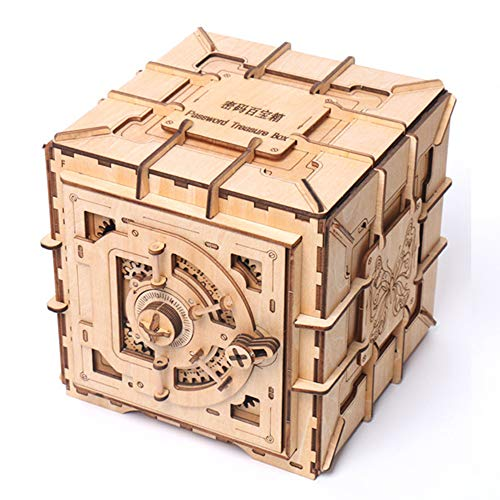 household items Caja de Rompecabezas de Madera Creativa, Caja de joyería de Almacenamiento de Cofre del Tesoro para Chica, Mayores de 10 años