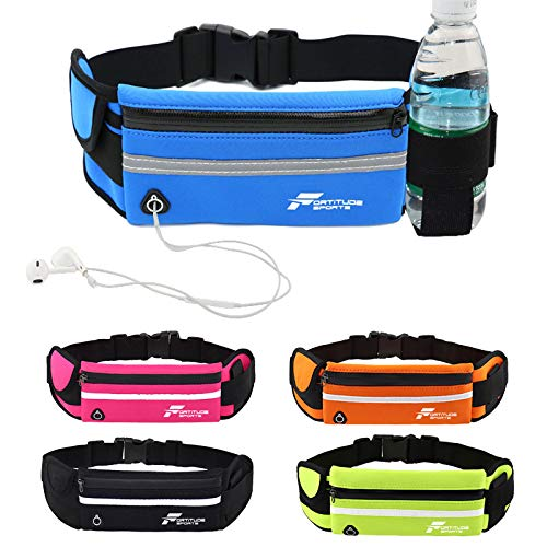 Fortitude Sports Running Belt With Phone Holder | Running Waist Pack for...