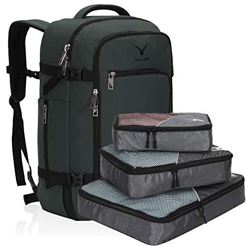 Hynes Eagle Bolsa de Viaje 40L Cabin aprobada para Viajar en Cabina como Equipaje de Mano 55x40x20 cm (Gris 4, Mochila con Cubos de Embalaje)