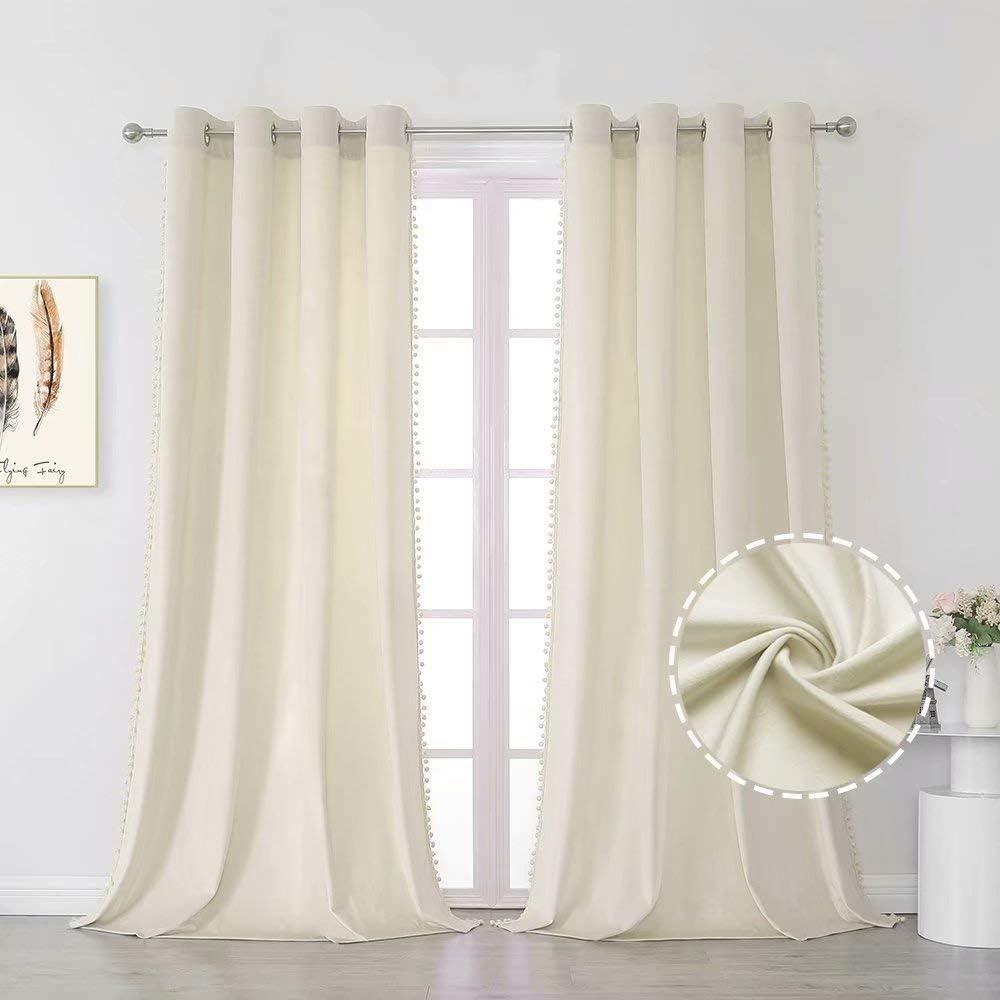 MISS SELECTEX Pom Velvet Curtains 特別セール品 for Bedroom オーバーのアイテム取扱☆ - Soft Luxury