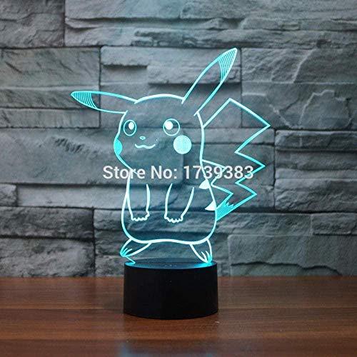 ilusión óptica 3D Lámparas de decoración Control deslizante de Pikachu Gift Darling In The Best Birthday Holiday Gifts For...