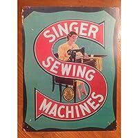 縫製機。インチのブリキの看板ヴィンテージ鉄の絵画金属板の個性ノベルティ