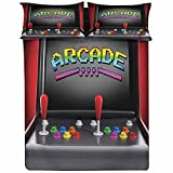 Fitted Sheet Cal King Size,Arcade Machine Retro Gaming Fun Joystick Buttons Vintage 80s 90s Electronic Fitted Sheet Set 3 Piece,1 Fitted Sheet & 2 Pillow Cases,15' Deep Pocket,for Kids & Adults
