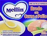 Mellin Brodo di Pollo Liofilizzato, 6 confezioni da 10 bustine...