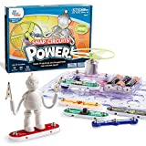 hand2mind Power! Elenco Snap Circuits Electric Science Kit for Kids (Ages 8+) - Build 19 STEM Experiments and Activities Set, Create Circuit and Explore Electricity, STEM Authenticated & Award Winning