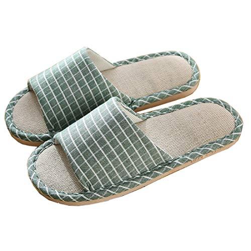 Zapatillas de Estar por Casa de Mujer/Hombre de Lino Zapatillas Interior Sandalias...