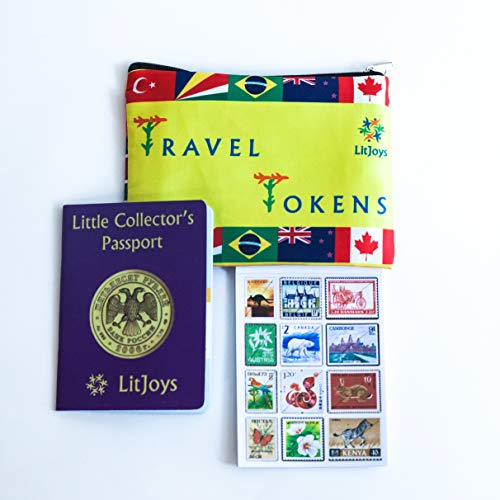 LitJoys Little Collector's Passport Travel Scrapbook and Stamps for Children (3 to 9 Years)