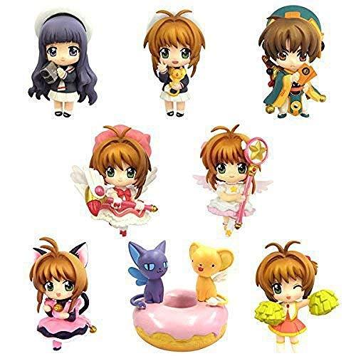 YYGB Card Captor Sakura Kinomoto Sakura Nendoroid Action Personaggi Anime - 5cm PVC Statue Bambole Decorazione Fans Regalo 8 Pezzi / Set