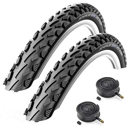 Schwalbe Land Cruiser 26' x 1.75 Mountain Bike Tyres with Schrader Tubes (Pair)