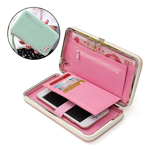 Phone Clutch Purse, Charminer Multi-purpose Long Style Leather Phone Wallet Case Handbag Diamond Heels Cellphone Case 5.5 inch Phone Clutch Wallet Card Holder for Women