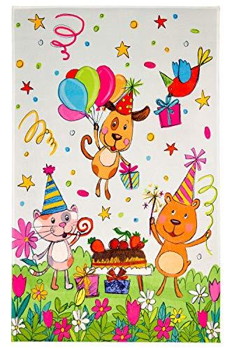 Böing Carpet GmbH Lovely Kids Tapis pour Enfant Motif Animaux Amusants en Deux Tailles, Tapis de Jeu, Chambre d'enfant