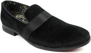 Men's Slip On Black Velvet Tuxedo Loafers Formal Dress Shoes Floral Lining Sparko 8