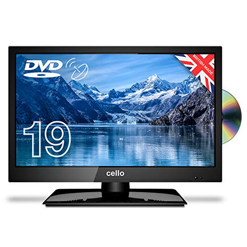 """Cello C1920FS VS/ZSF0291V2 19"""" inch LED TV/DVD Freeview HD with Satellite Receiver 2020 Model, Made In The UK, Black"""