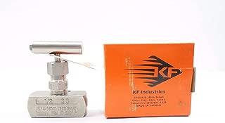 KF INDUSTRIES N14-12HT 1/2 in NPT Stainless Threaded Needle Valve D557307