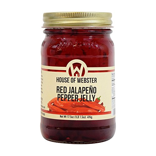 House of Webster Red Jalapeno Pepper Jelly 17.5 oz