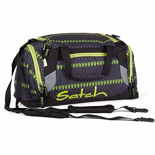 SATCH Grey Boshi Sporttasche SAT-DUF-001-9C4, 50 cm, 25 L, Crochet Pattern Magenta