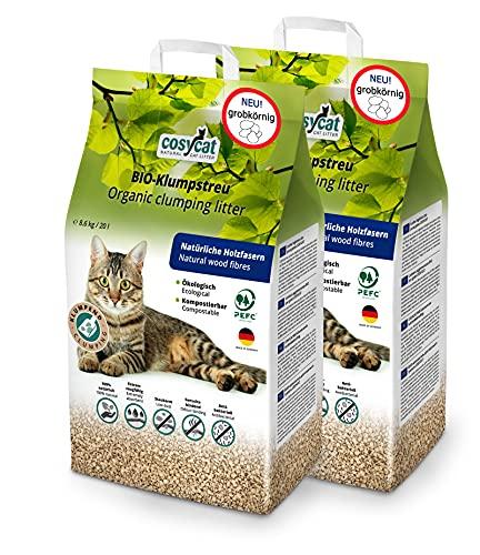Arena para gatos orgánica de Coyscat, de madera Grob, edición limitada, 40 litros, desechable en el inodoro, arena vegetal para grumos