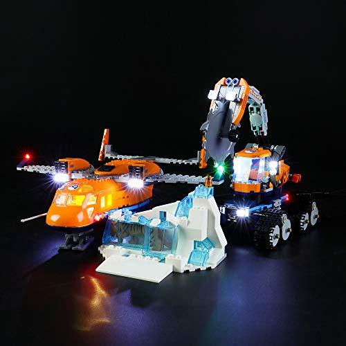 LIGHTAILING Licht-Set Für (City Arktis Versorgungsflugzeug) Modell - LED Licht-Set Kompatibel Mit Lego 60196(Modell Nicht Enthalten)