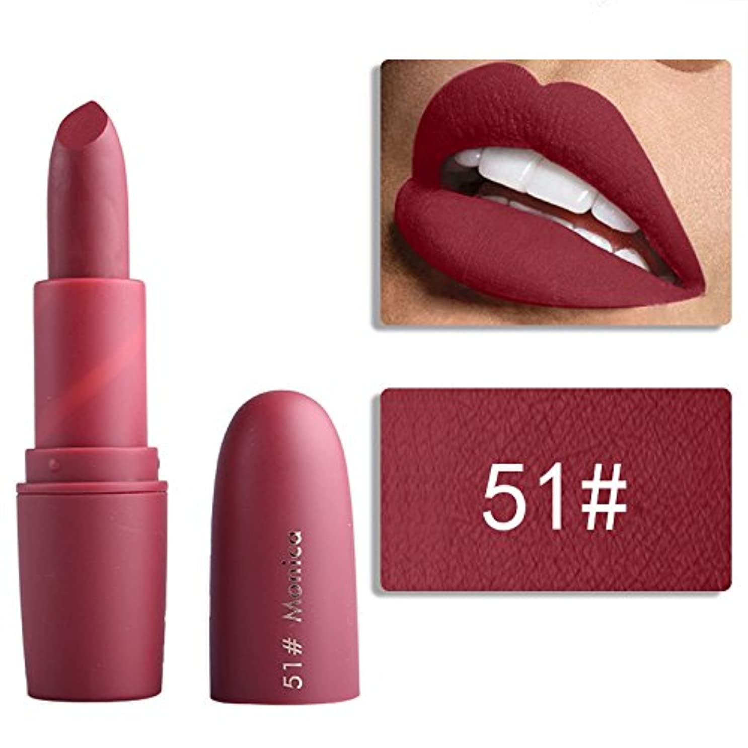 南アメリカ尽きるコーヒーMiss Rose Nude Lipstick 22 colors Waterproof Vampire Brown Beauty Baby Lips Batom Matte lipstick Makeup Tats Eugenie Margherita